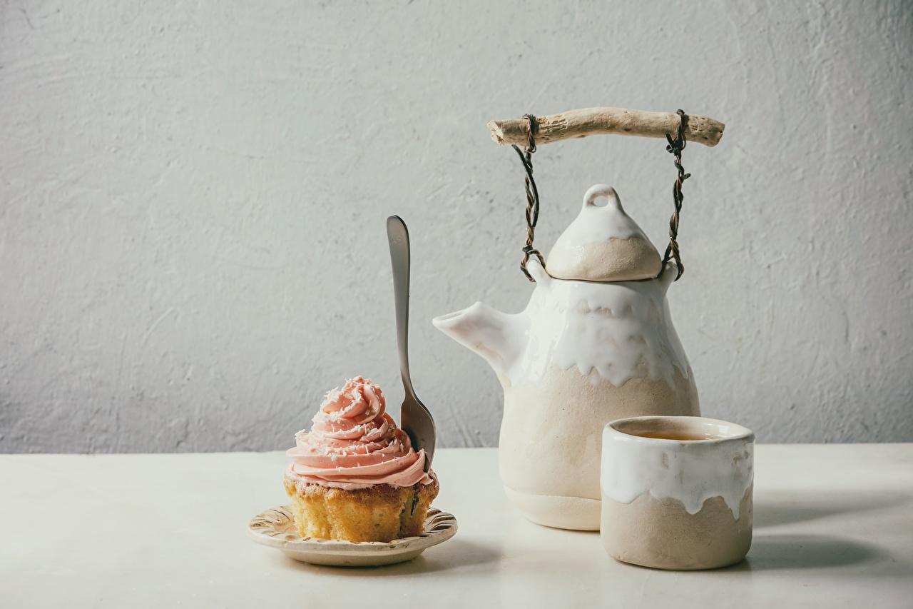 Bilder von Keks Cupcake Flötenkessel Becher Lebensmittel Pfeifkessel Wasserkessel das Essen