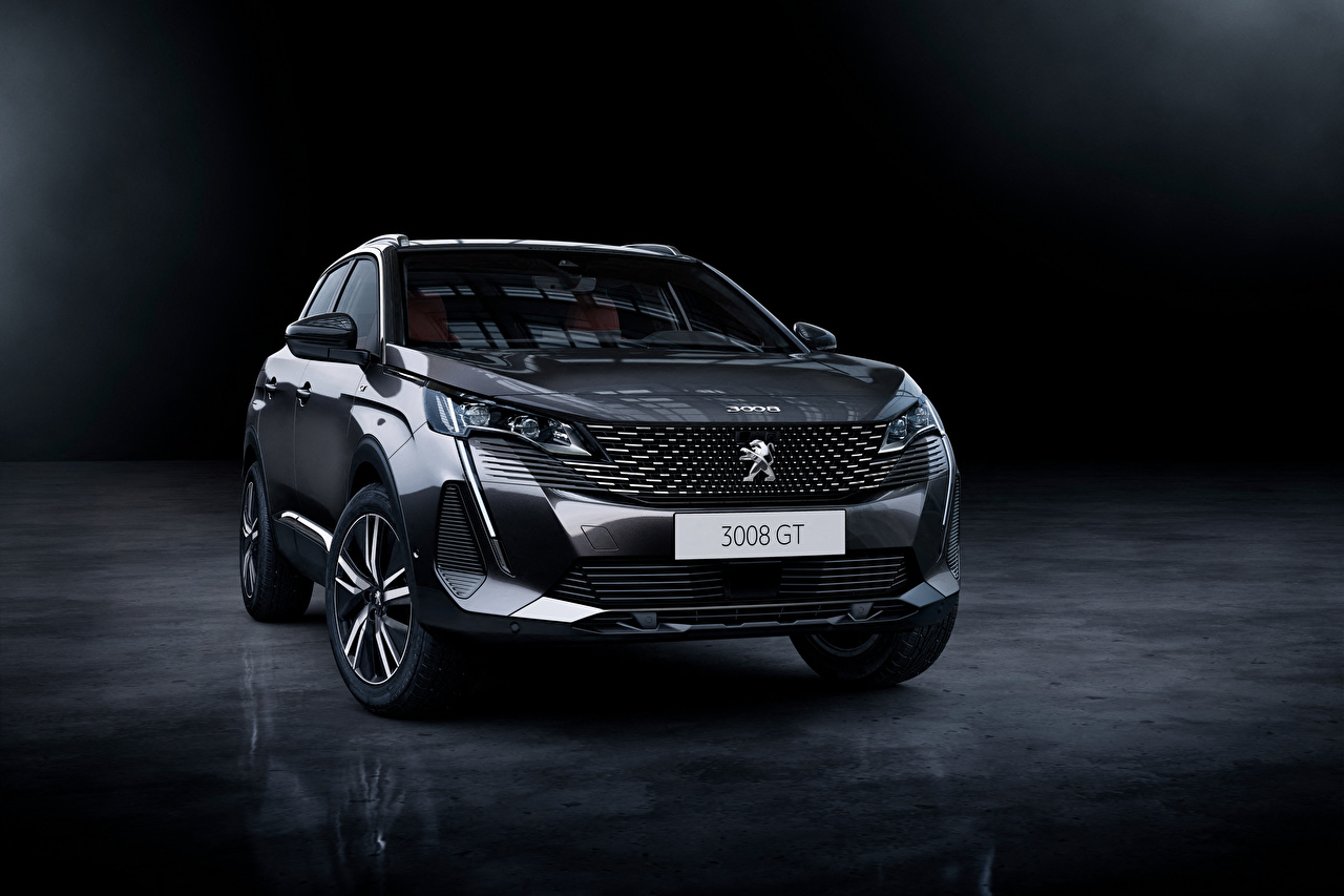 Picture Peugeot CUV 3008 GT, 2020 gray Front Metallic automobile Crossover Grey Cars auto