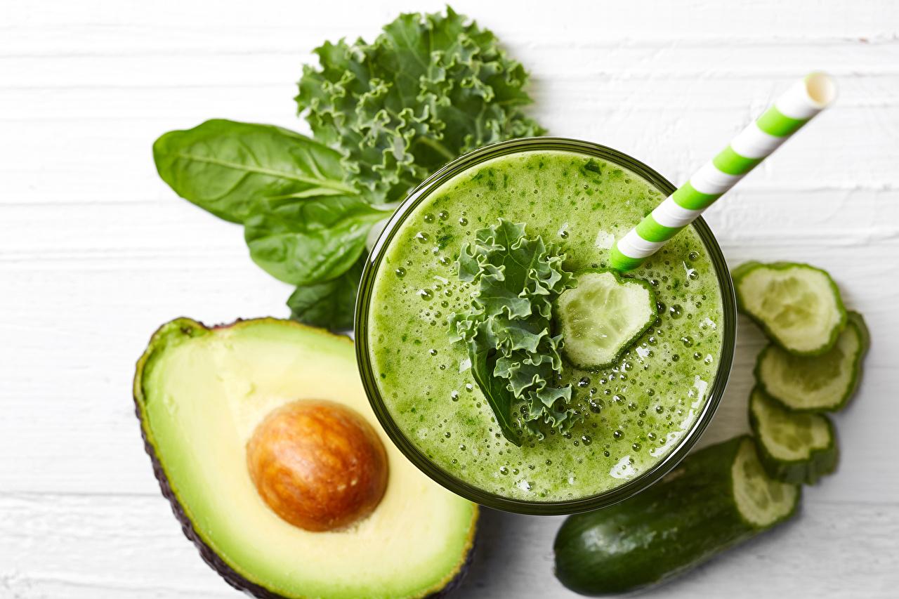 Smoothie Abacate Pepino Hortaliça comida Alimentos