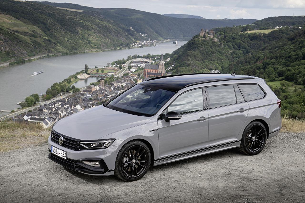 Foto Volkswagen Kombi 2019 Passat Variant R-Line Edition Grau Autos Metallisch graue graues auto automobil