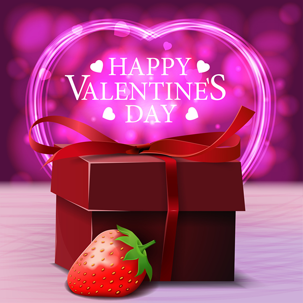 Photo Valentine's Day English Heart present lettering Strawberry text Gifts Word - Lettering