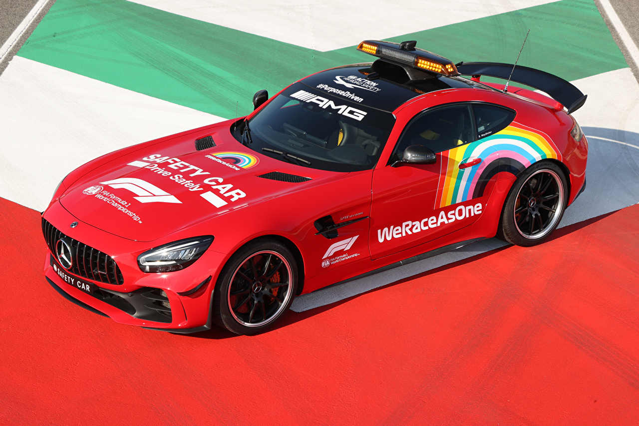 Photo Tuning Mercedes-Benz 2020 AMG GT R F1 Safety Car Red Cars auto automobile
