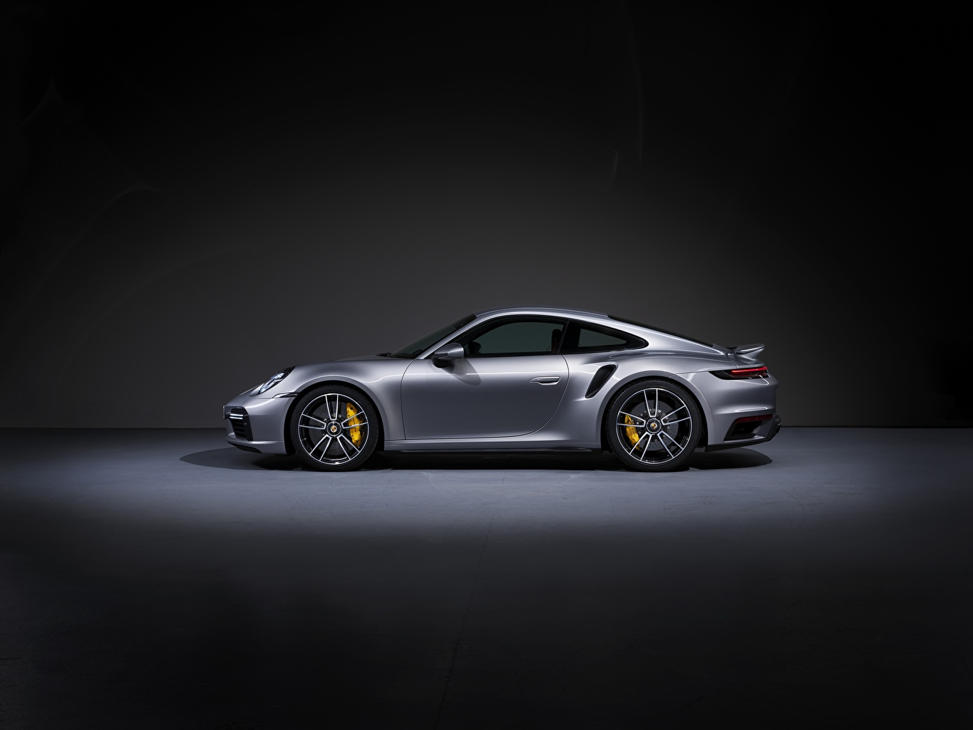 Photo Porsche 911 Turbo S 2020 992 Coupe Silver Color Side Cars