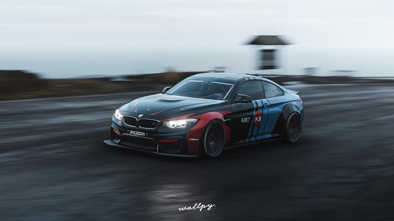 ,极限竞速 地平线4,BMW,M4 by Wallpy,运动,电子游戏,游戏,汽车,3D图形,