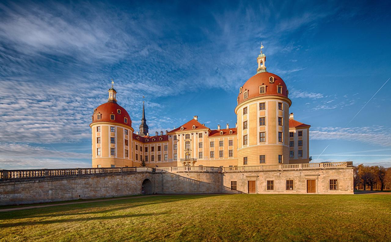 Wallpaper Germany Moritzburg Castle Castles Sky Cities castle