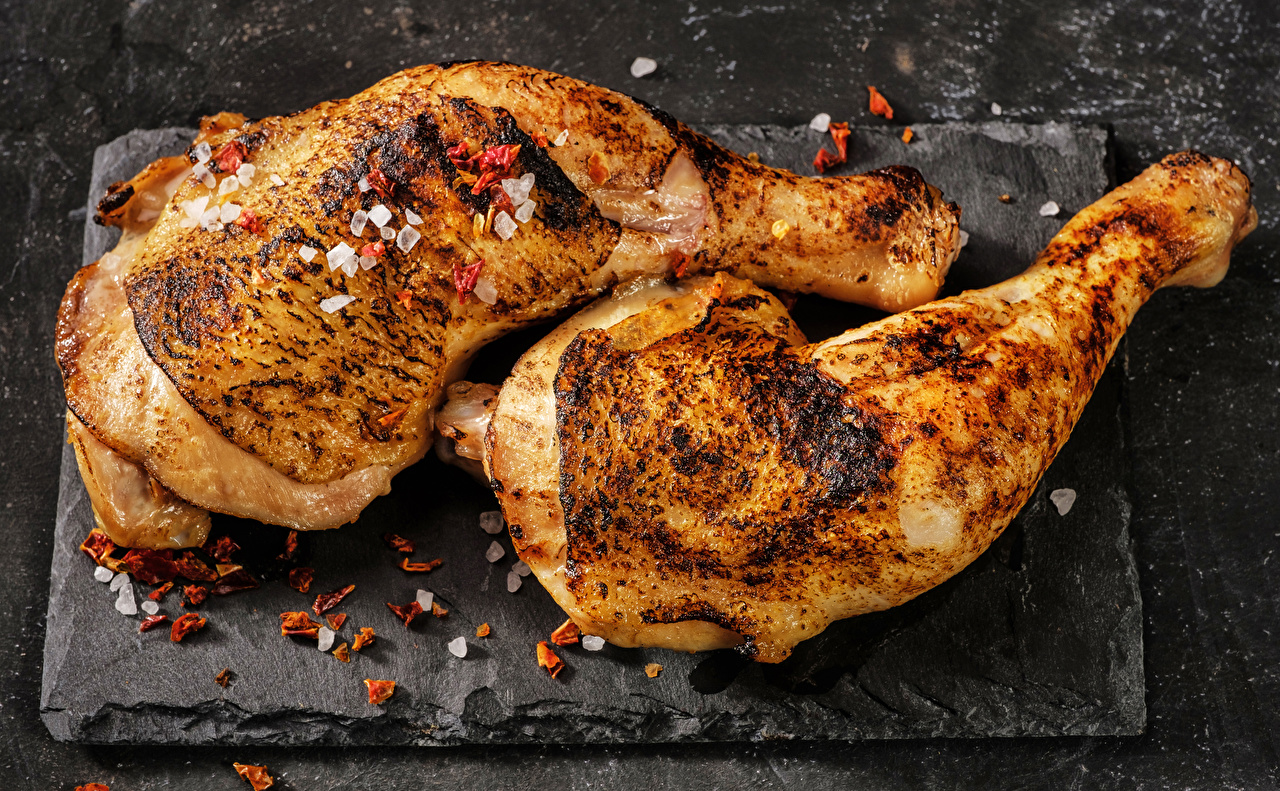 Pictures Roast Chicken Food Seasoning Spices