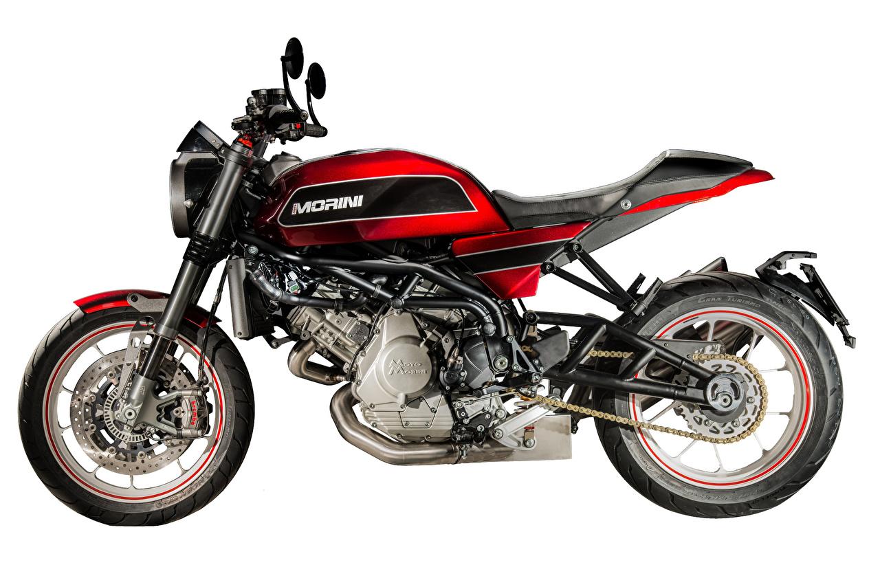 Images 2018-20 Moto Morini Milano motorcycle Side White background Motorcycles