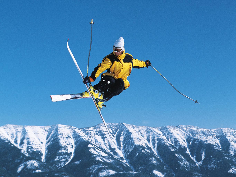 Skiing Sport Wallpaper Iphone: Wallpaper Sport Winter Jump Skiing