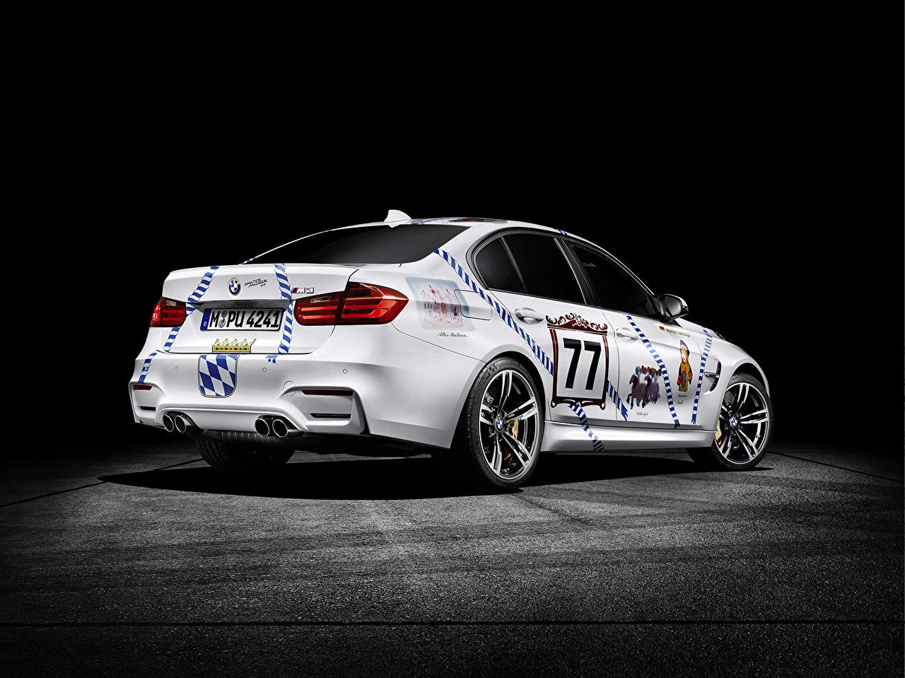 Wallpaper BMW 2015 M3 3-Series F80 White auto Back view Cars automobile