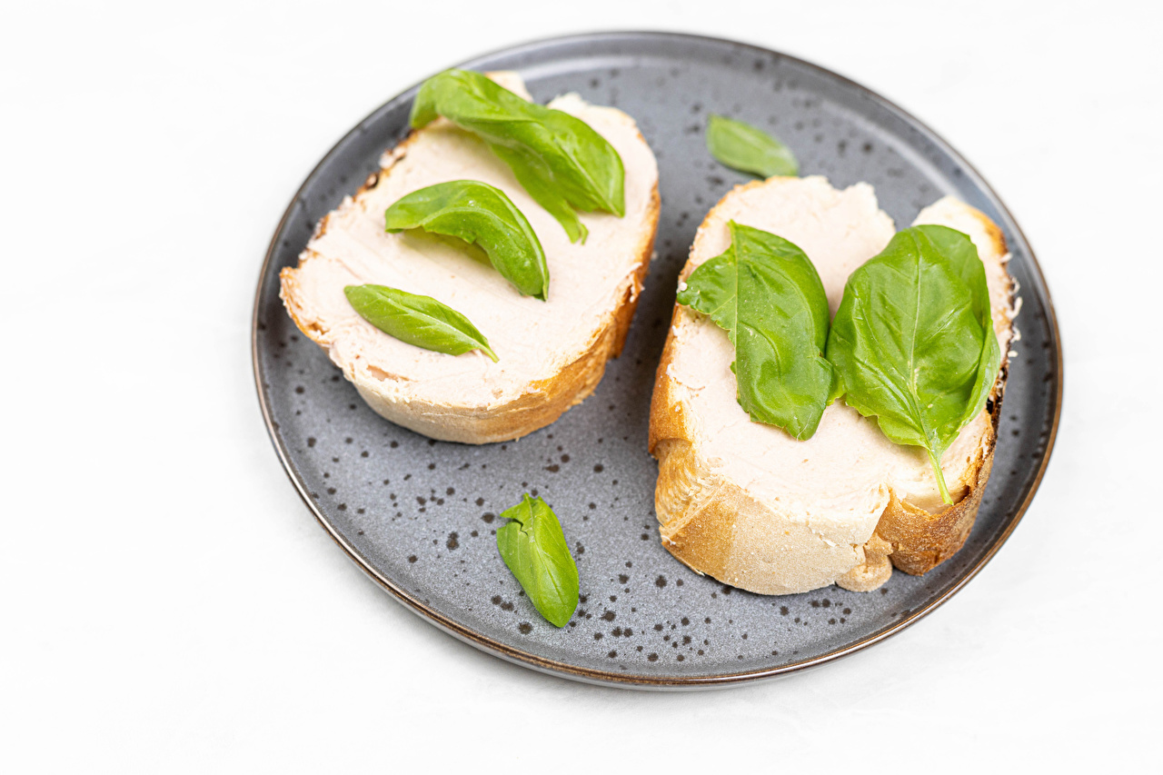 Image Foliage 2 Bread Butterbrot Food White background Leaf Two