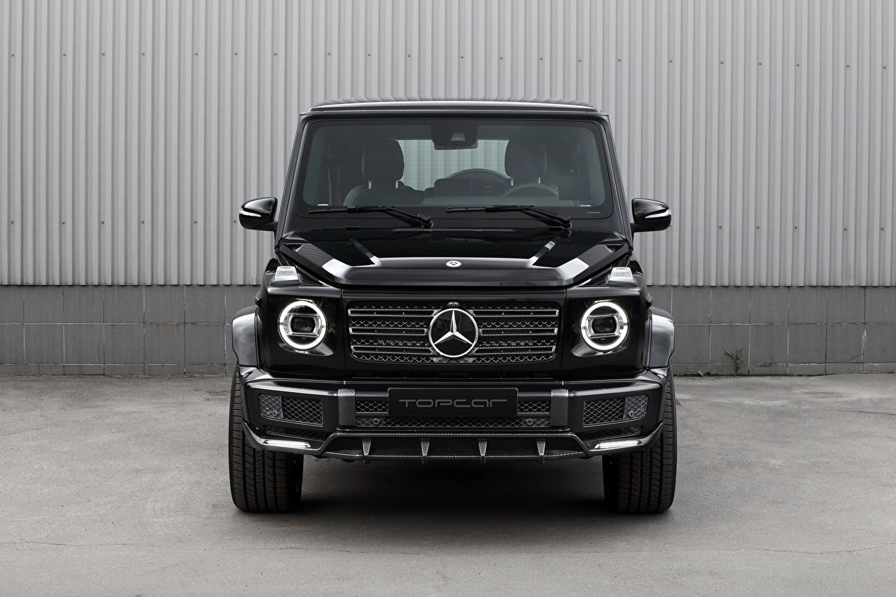 Fotos Mercedes-Benz G-Modell G 350 d Light Package, Br.463, 2020 Schwarz auto Vorne Metallisch G-Klasse Autos automobil