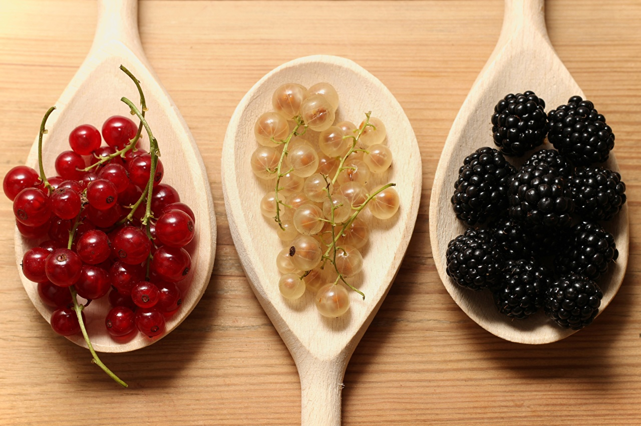 Images Currant Blackberry Food Berry Spoon Three 3