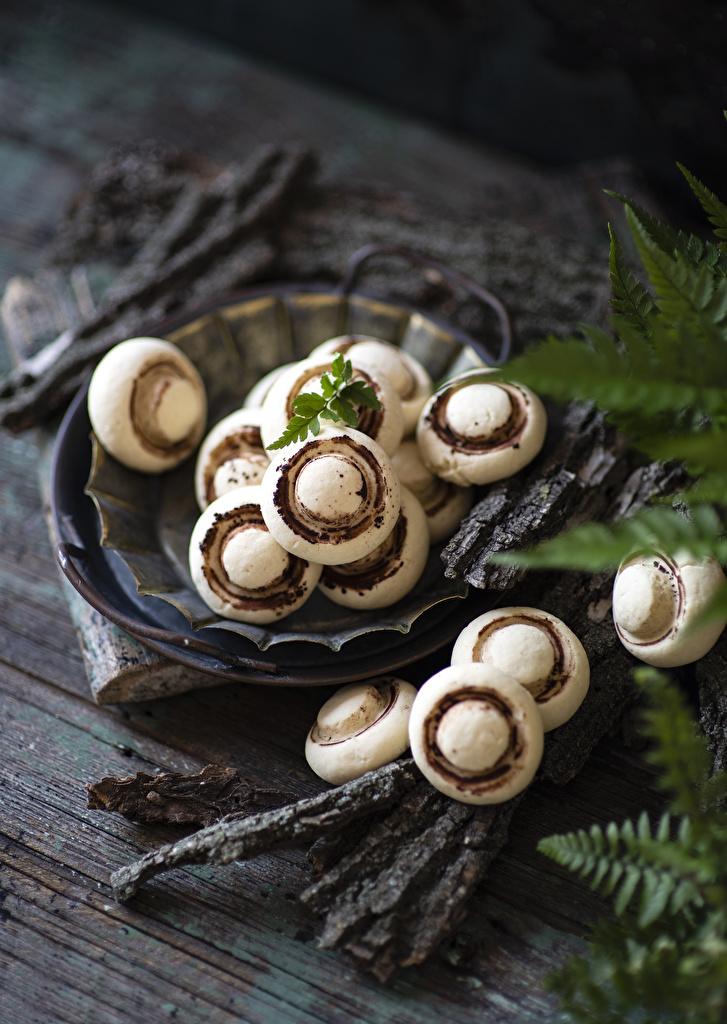 Fotos Bokeh Kekse Lebensmittel Design Bretter  für Handy unscharfer Hintergrund das Essen
