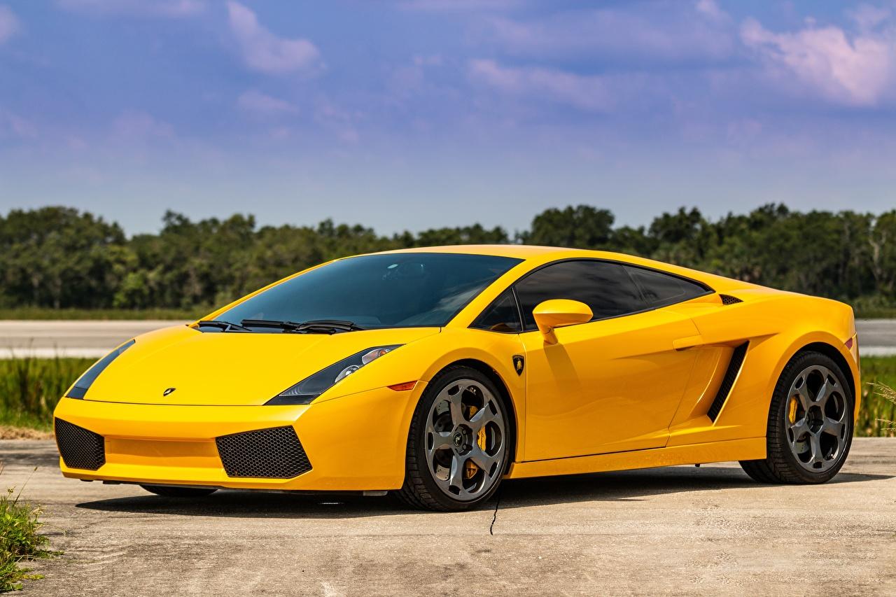 Bilder von Lamborghini Gallardo Gelb Autos Metallisch auto automobil