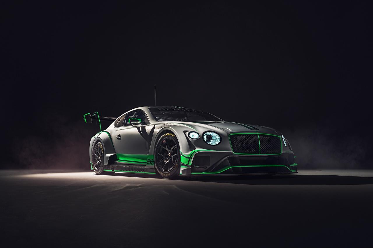 Desktop Wallpapers Bentley 2018 Continental GT3 gray Cars Grey auto automobile