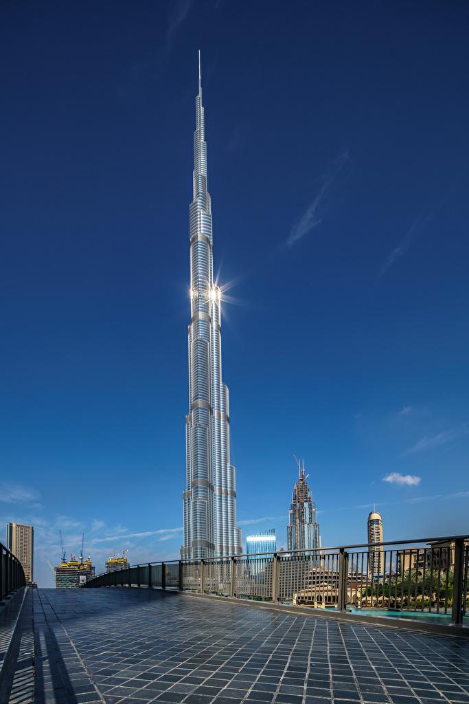 、アラブ首長国連邦、住宅、超高層建築物、ドバイ、Burj Khalifa、、建物、都市、用 携帯電話