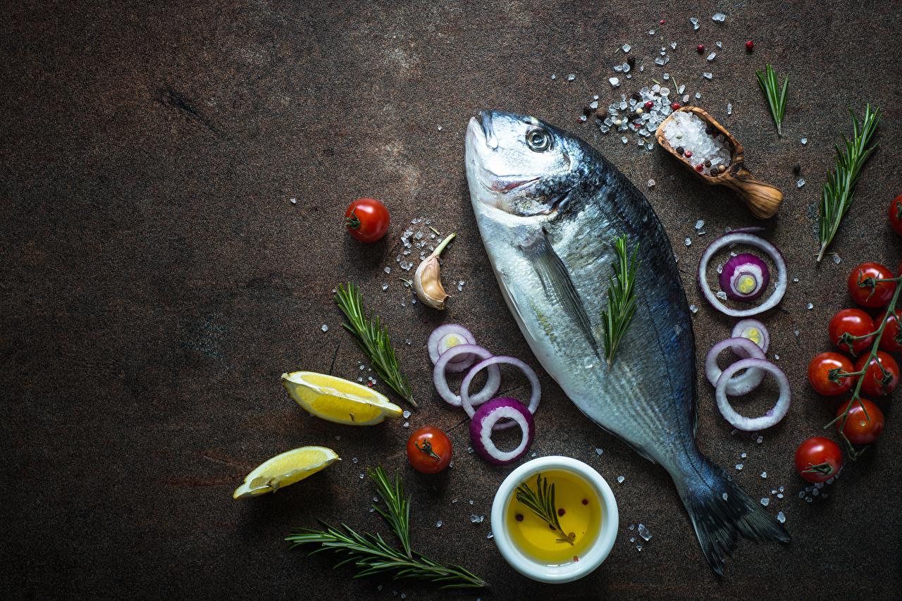 Image Onion Tomatoes Salt Lemons Fish - Food Food