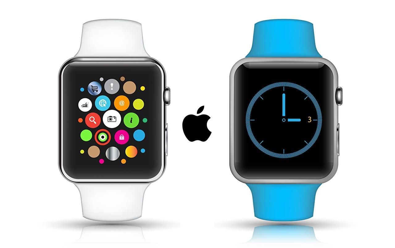 壁紙 アップル 時計 リストウォッチ Apple Watch 白背景 コンピューター ダウンロード 写真