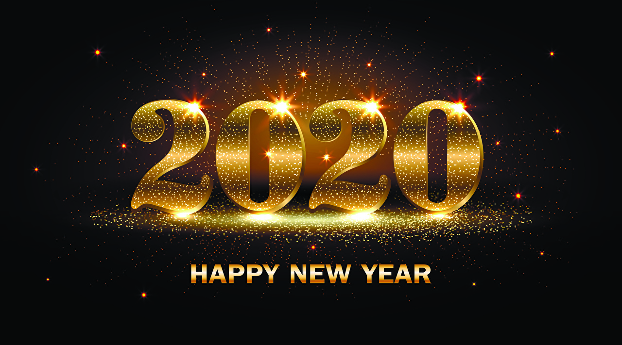 壁紙 新年 グレーの背景 2020 英語 ダウンロード 写真