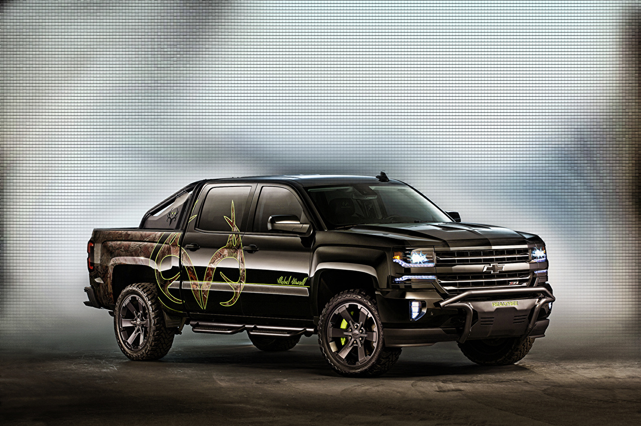 Image Tuning Chevrolet Silverado Concept Black Cars auto automobile
