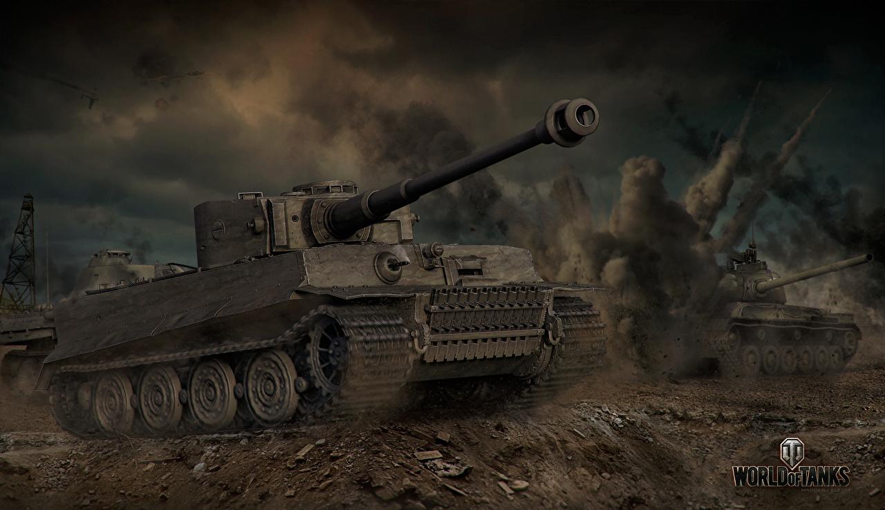 Fondos De Pantalla World Of Tanks Tanque Tiger Juegos