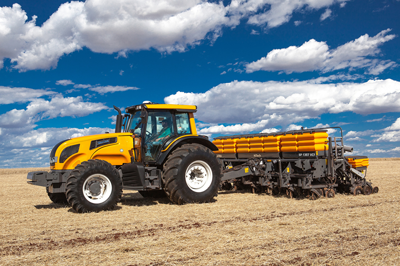 Photos Tractor Valtra BH Fields Clouds tractors