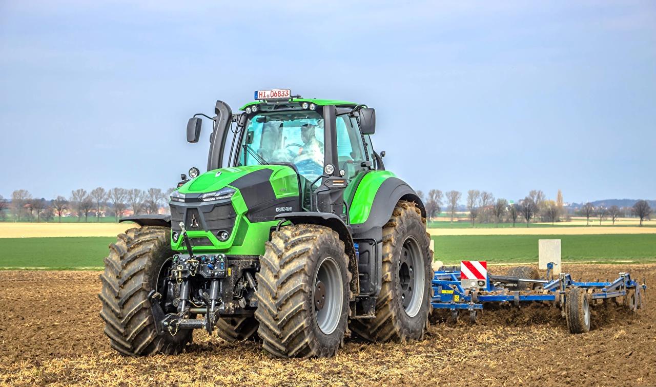 Fotos Landwirtschaftlichen Maschinen traktoren Deutz-Fahr 9340 Grün Traktor