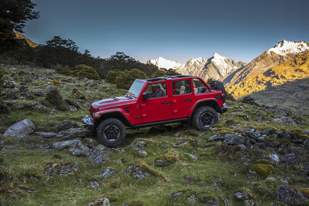 Wallpapers Jeep 2018 Wrangler Unlimited Rubicon Red Cars