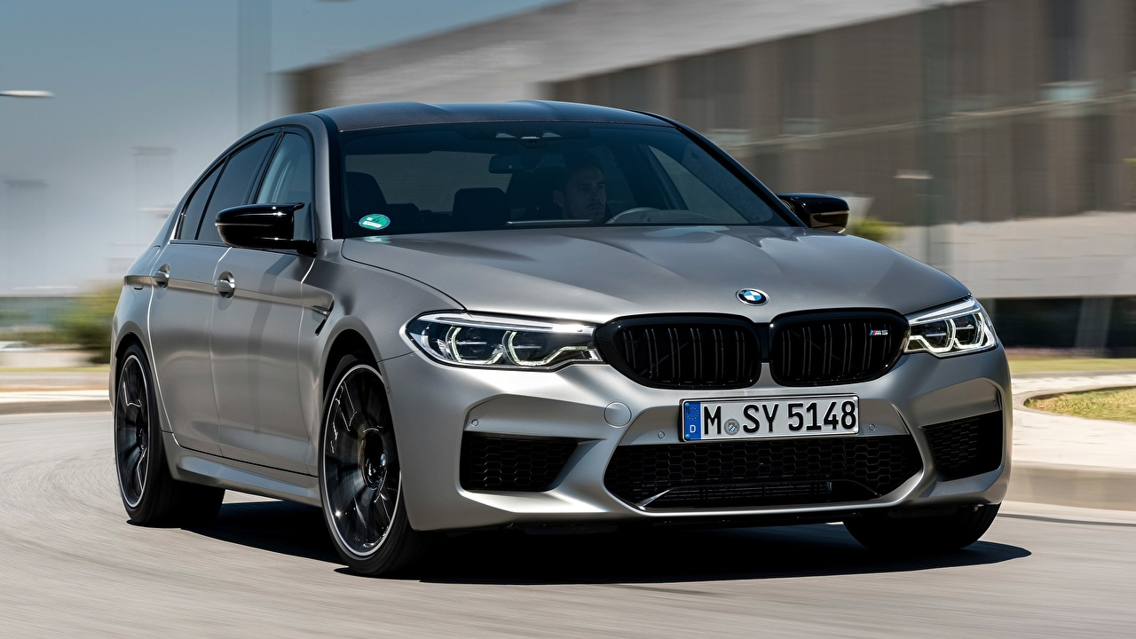 Picture BMW 2018 M5 V8 F90 M5 Competition gray Cars Front Grey auto automobile