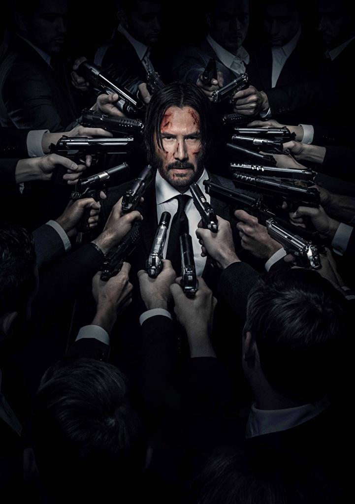 Keanu Reeves John Wick Chapter 2 Men Pistols 523660 721x1024 12+ Best Keanu Reeves HD Wallpaper and Photos