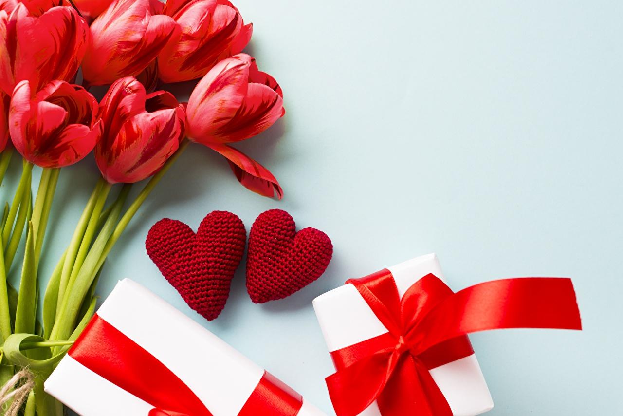 Hintergrundbilder Valentinstag Herz Tulpen Blumen