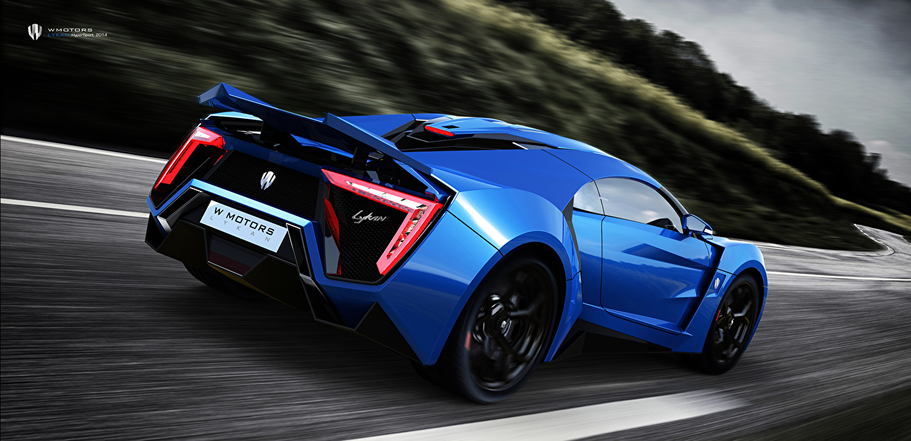 Fonds d 39 ecran lykan hypersport w motors supercar 4k uhd bleu arri re mouvement voitures - Fondos de pantalla para pc hd 4k ...