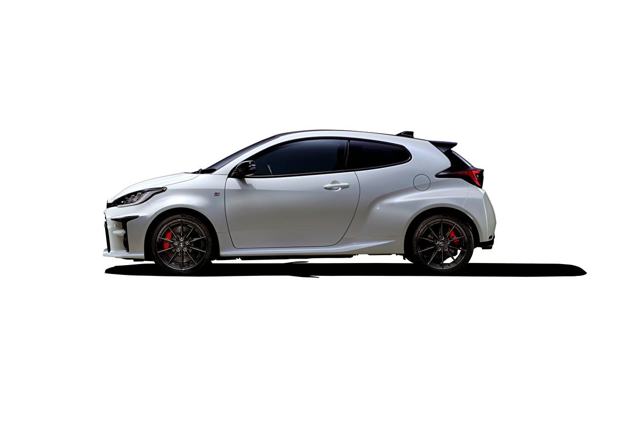 Images Toyota GR Yaris RZ High Performance, JP-spec, 2020 White auto Side Metallic Cars automobile