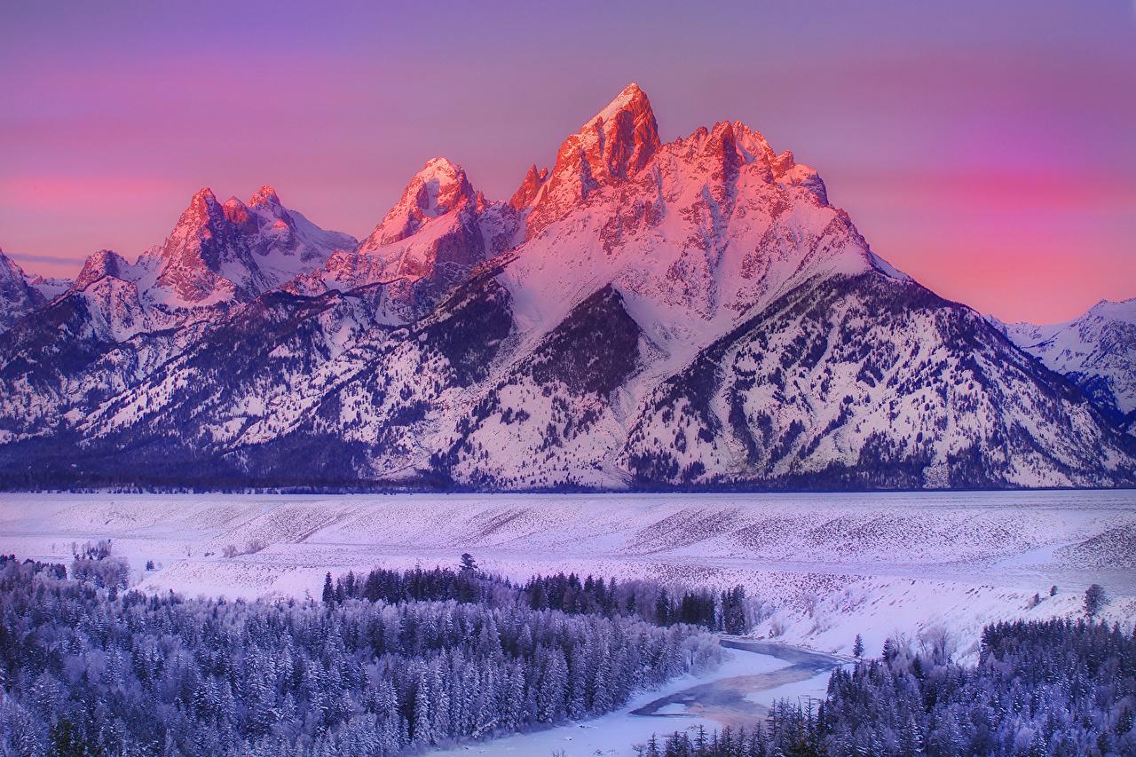 Fonds D Ecran Montagnes Hiver Usa Parc Photographie De
