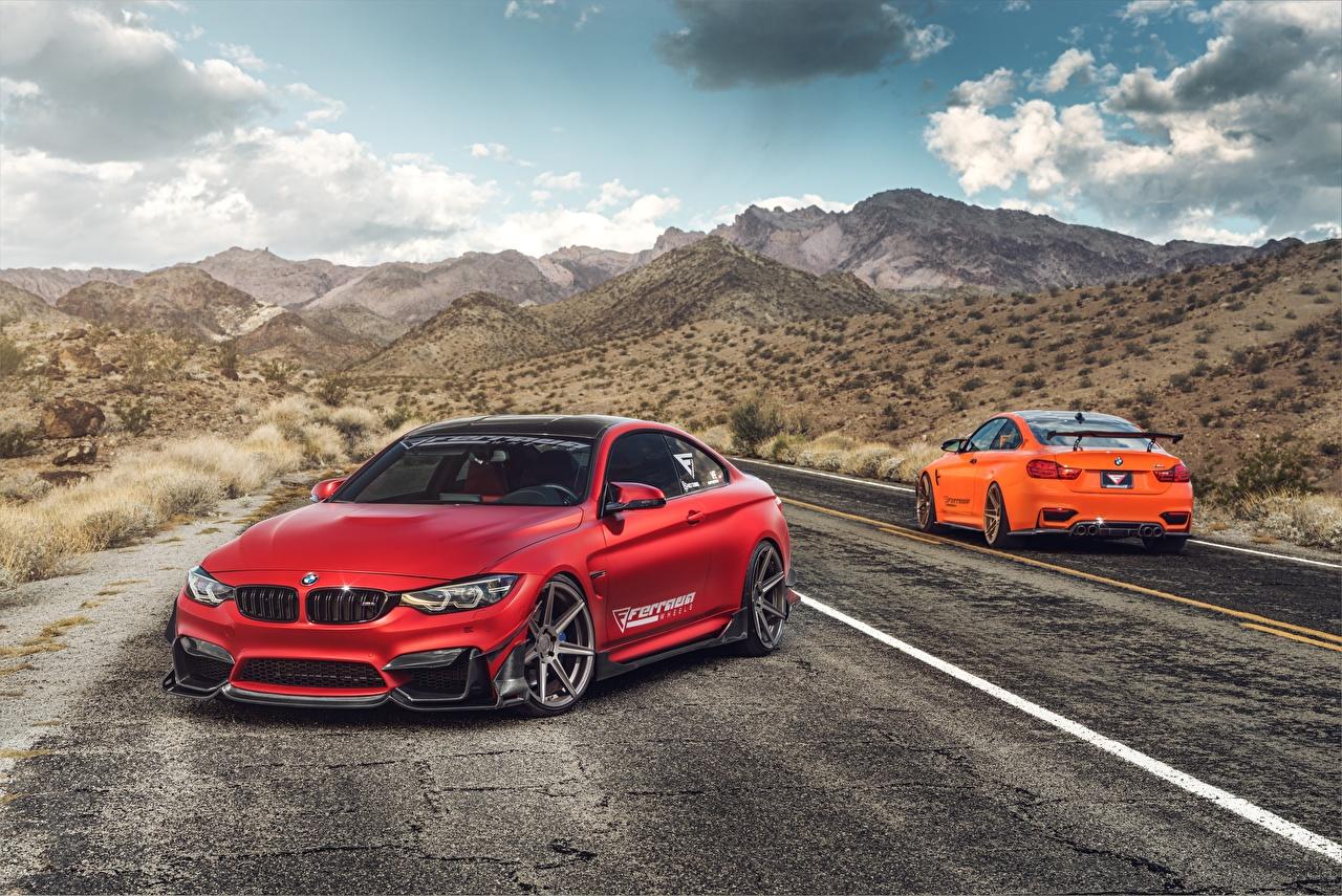 Bilder BMW M4 Rot Autos