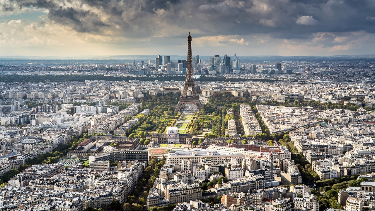 Image Paris France From above Cities Building Houses