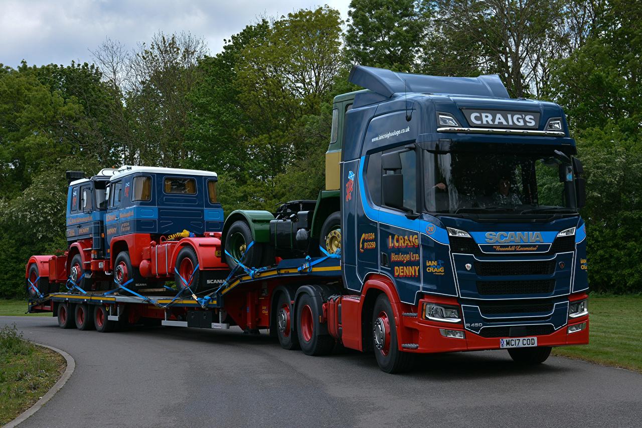 Wallpaper Scania Trucks Cars lorry auto automobile
