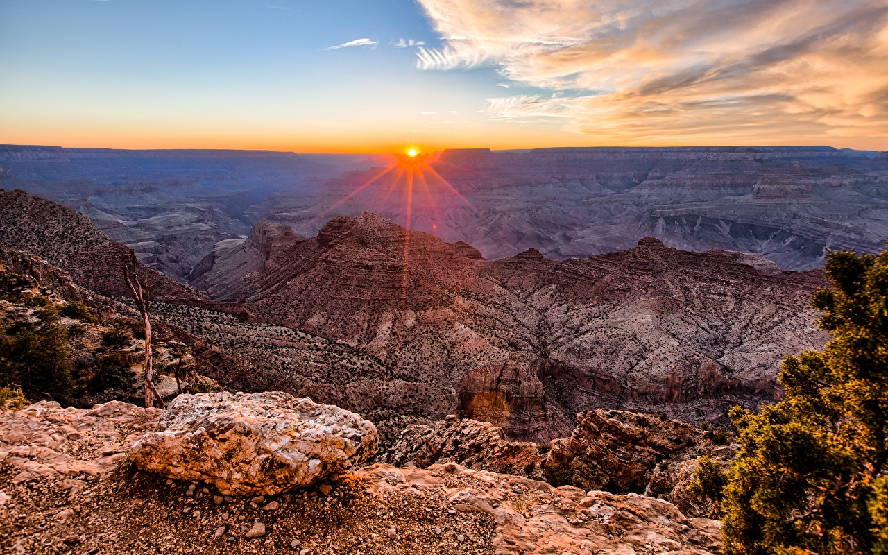 Photo Grand Canyon Park USA Arizona Nature Canyon Mountains Scenery Sunrises and sunsets Landscape photography