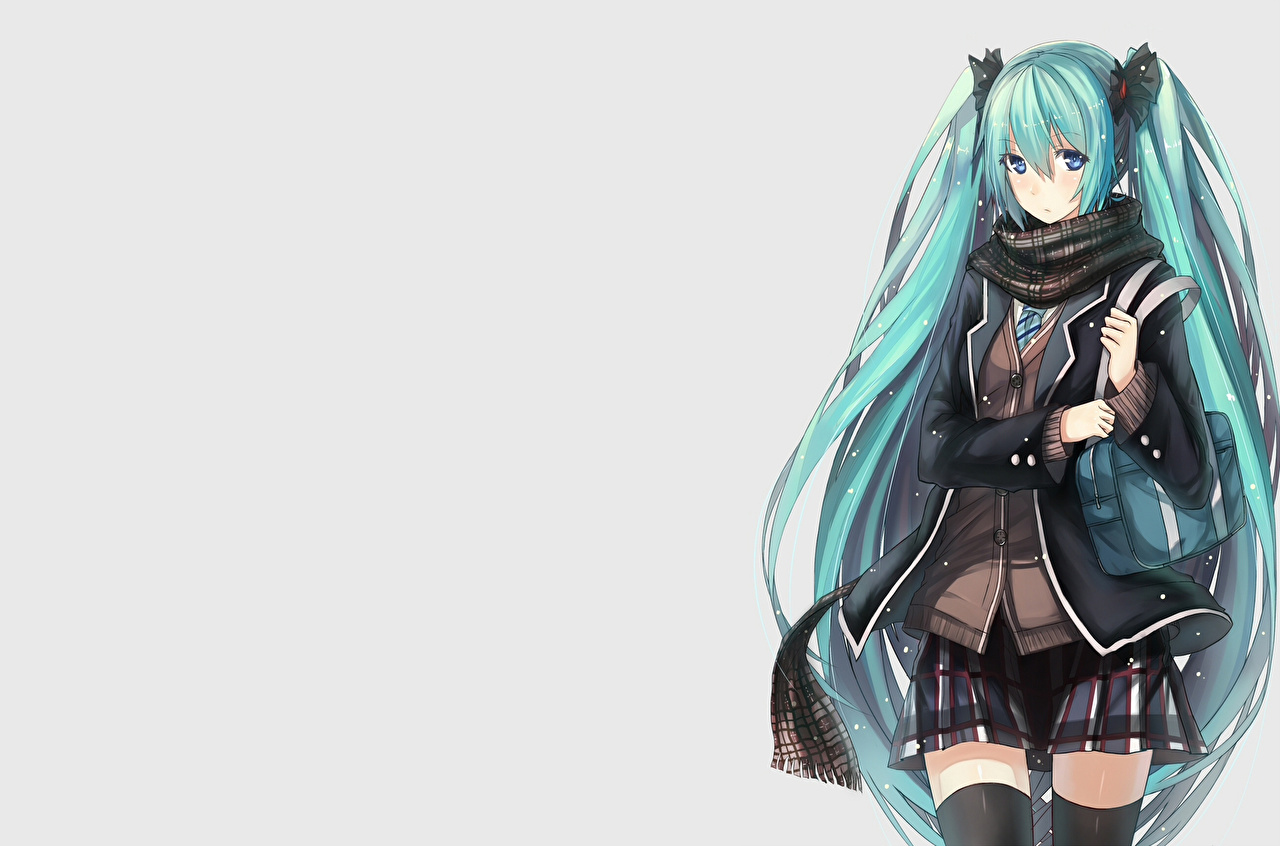 Pictures Vocaloid Hatsune Miku Hair Anime Girls female young woman