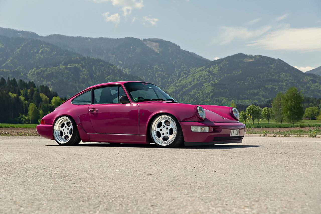 Fondos De Pantalla Porsche Montañas 964 Violeta Color