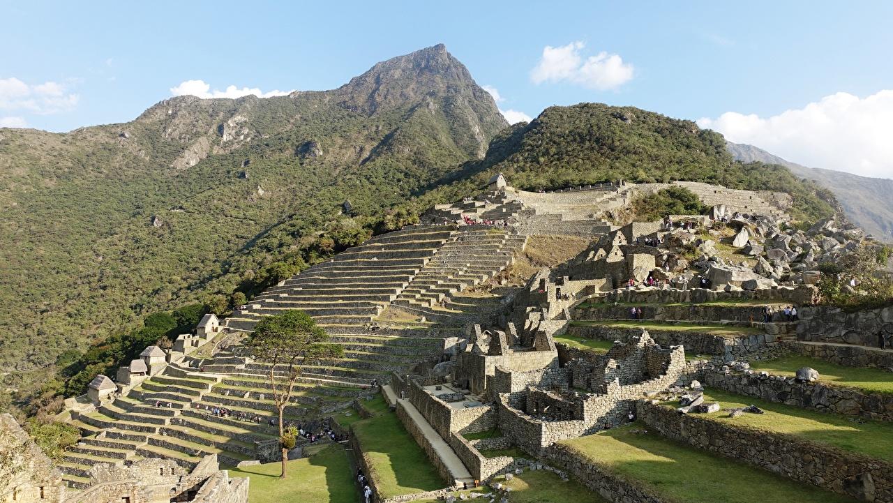 Foto Peru Machu Picchu, North America Gebirge Ruinen Städte Berg