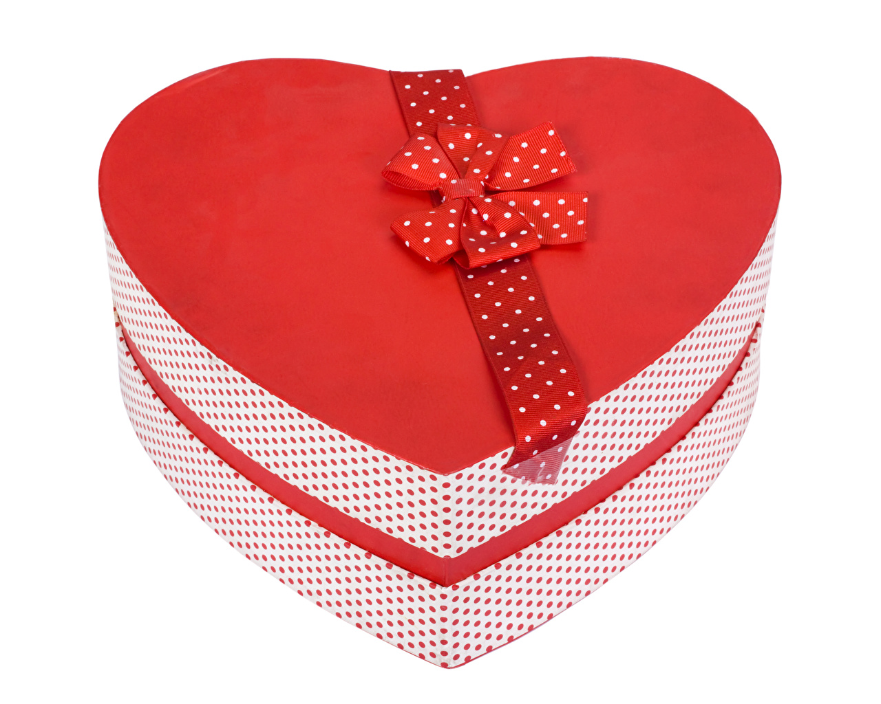 Dia dos Namorados Fundo branco Presentes Caixa Coração Laço