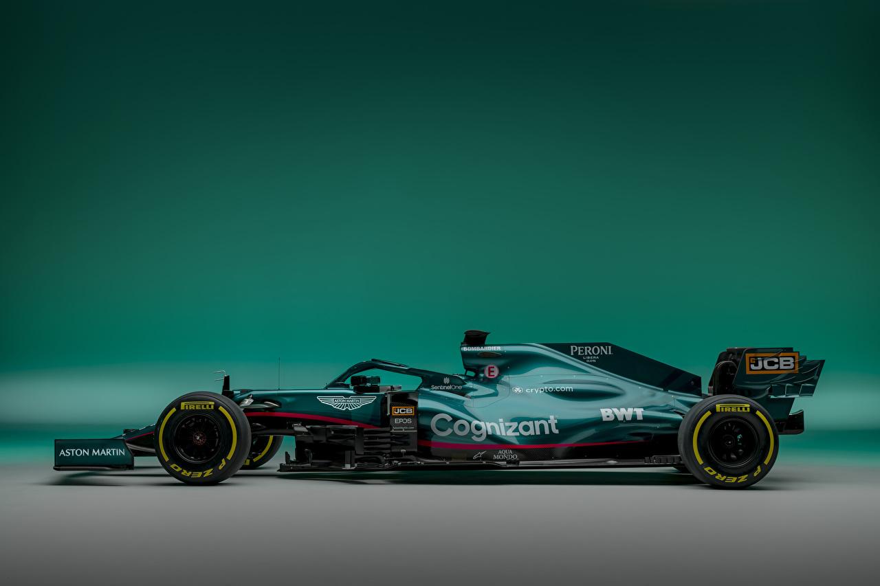 Bilder von Aston Martin AMR21, 2021 Sport Grün Formel 1 auto Seitlich Formula 1 sportliches Autos automobil
