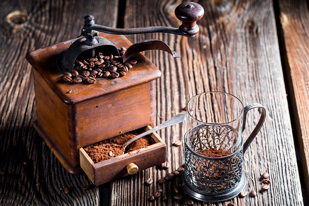 Bilder von Lebensmittel Kaffee Bretter Trinkglas Getreide Kaffeemühle das Essen