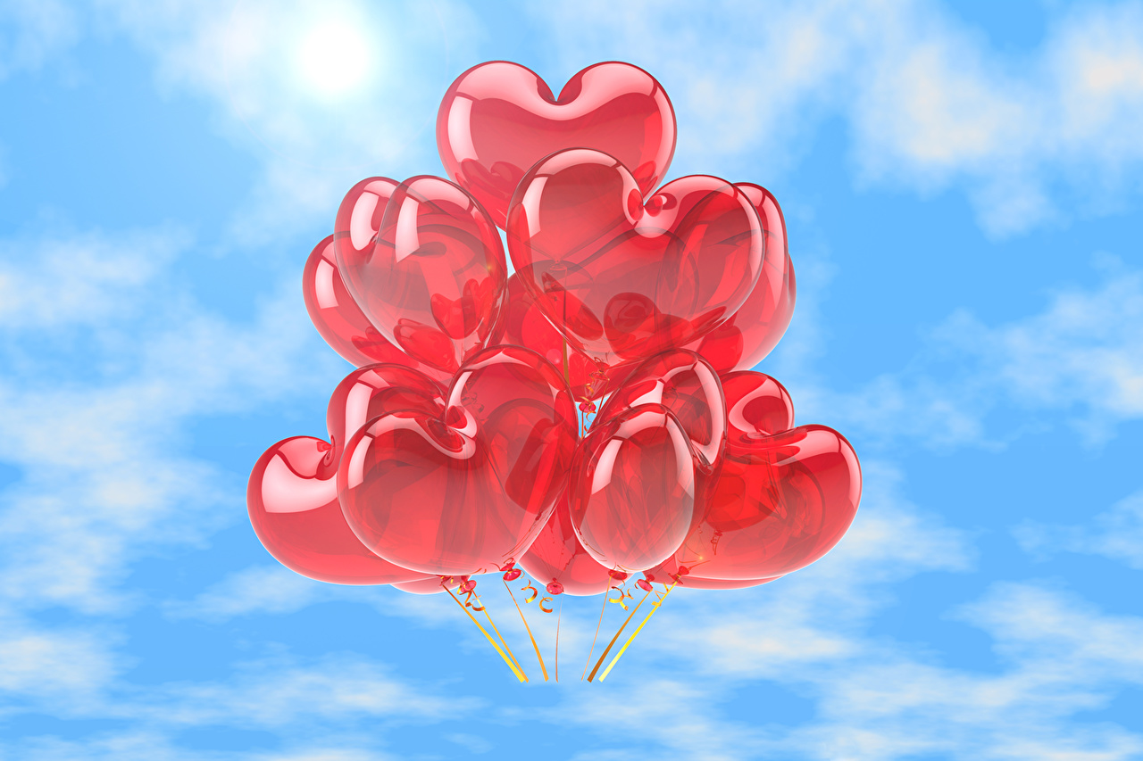 Photo Heart balloons Nature Toy balloon