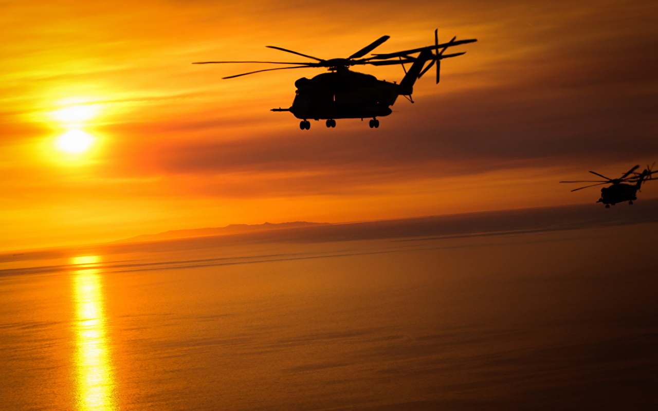 Fondos De Pantalla Helicópteros Amaneceres Y Atardeceres