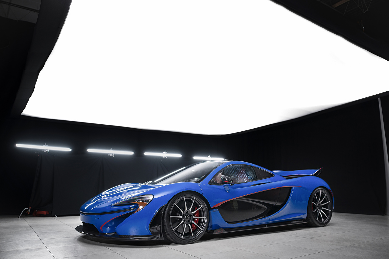 Photo McLaren 2016 MSO P1 Blue Cars Metallic auto automobile