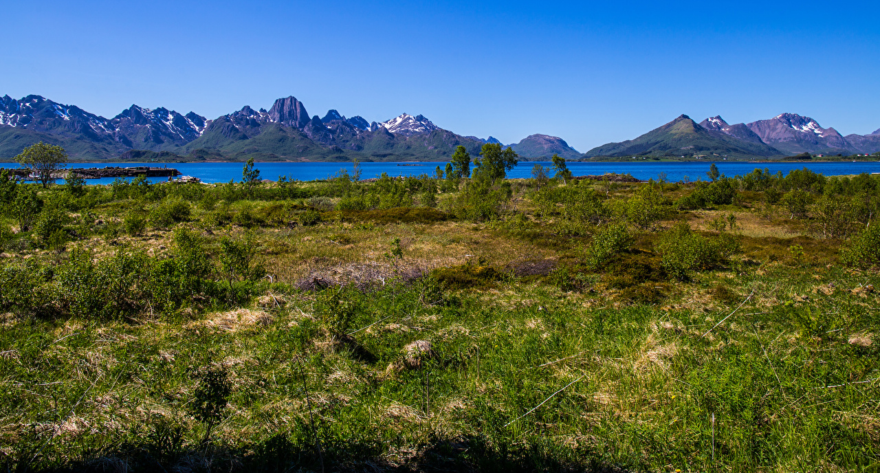 Picture Norway Vesteralen Nature mountain Mountains