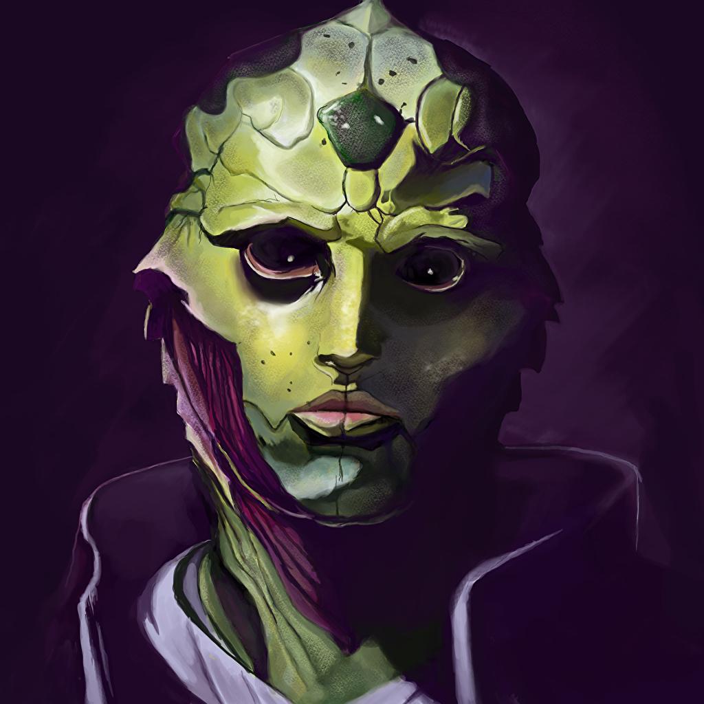 Fonds D Ecran Mass Effect Thane Visage Extraterrestre Jeux Fantasy Telecharger Photo