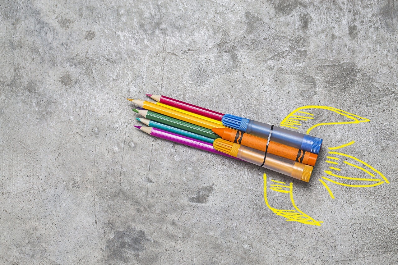 Foto Bleistift Rakete